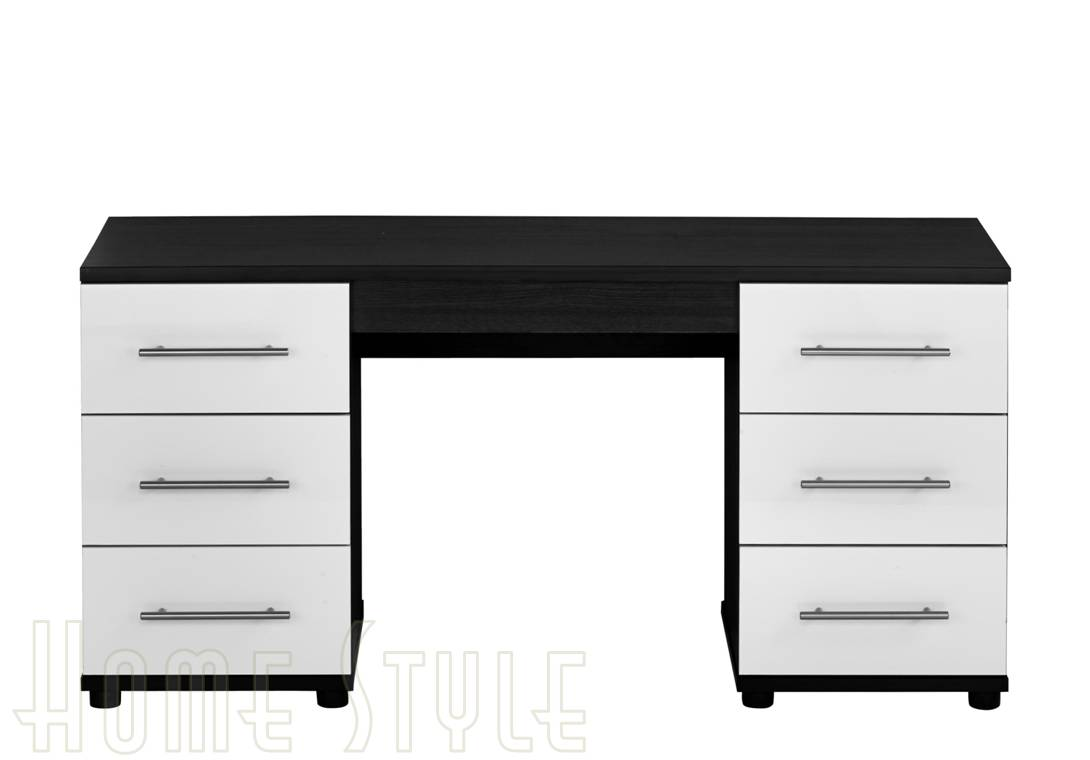 Darien Drawer Dressing Table - Black gloss dressing table